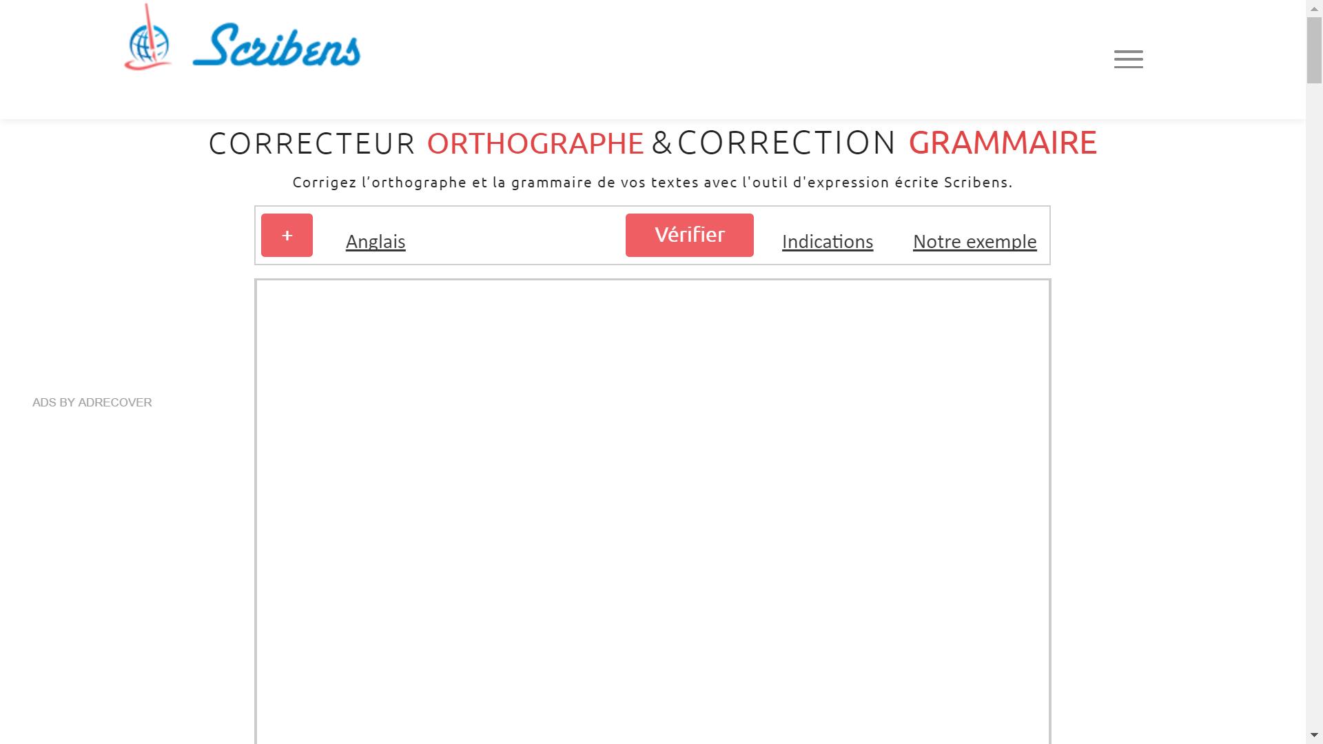 scribens - correcteur d'orthographe en ligne