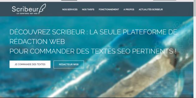 site de rédaction en ligne - scribeur